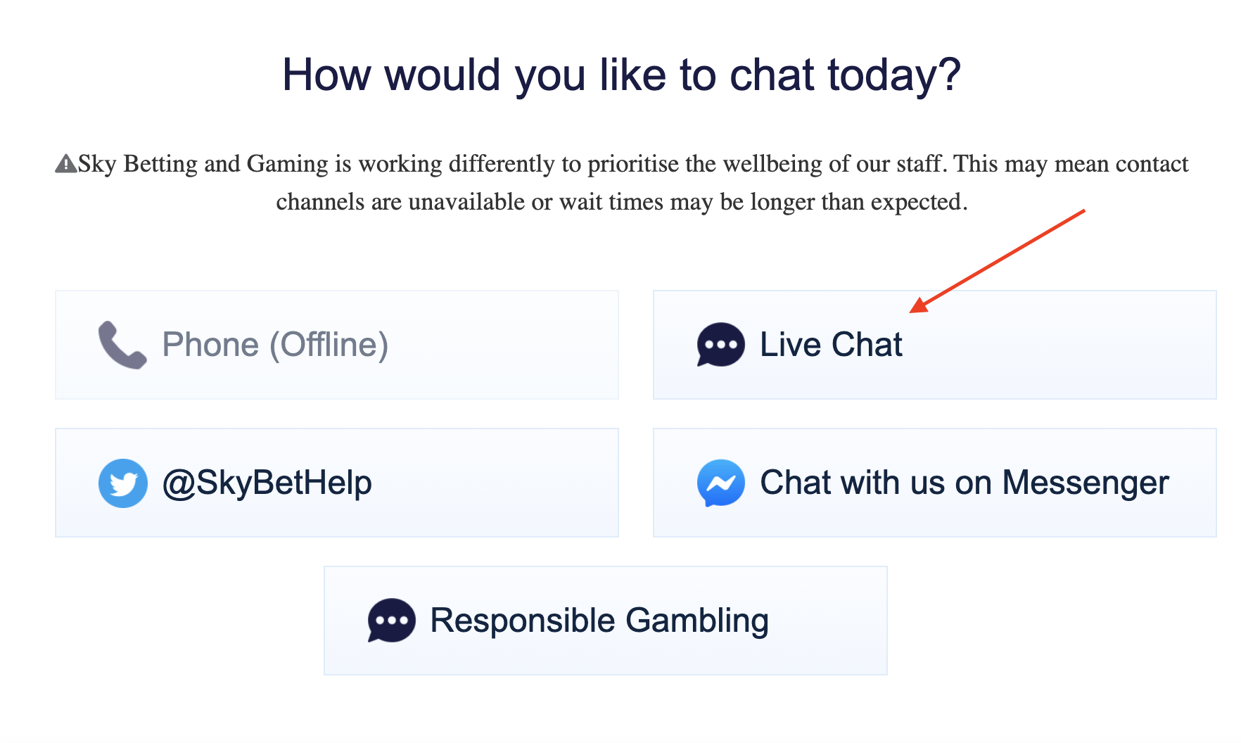 skybet live chat